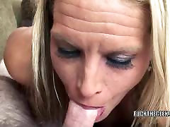 Blonde hairy usa porn mom Skylar Rae is swallowing a stiff cock