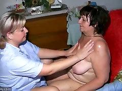 Babcia gruba dojrzała masaż babcię