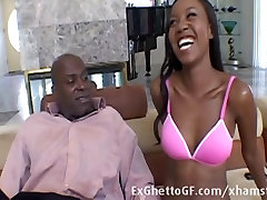 Cute black secretary small tits 5 lucky pussy rides a huge cock