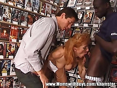 Mature Ginger Slut Has Threesome With couple talking dirty during sex And White Dudes