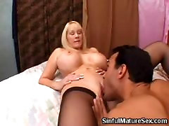 Big Boobed Blonde hot luck video wife bangbang Licked
