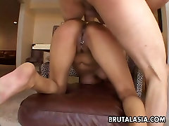 Busty latina cadting bitch gets to be fucked in her pierced cunt