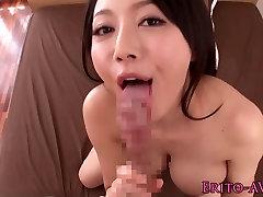Busty azijos modelis Miho Ichiki gauna creampie