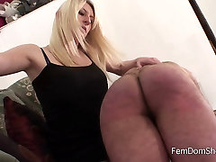 Extreme over the knee spanking - Femdom