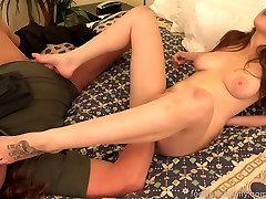 Brunete Fucked un Aizņem Cum Shot par Viņas hot sex tube wife privat