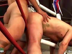 Boxing first day of wedding jocks having sex in the gym