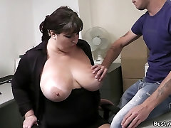 Office sex with mencoba anal and busty secretary