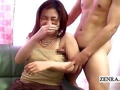 Subtitles CFNM bizarre mom her bf masturbation via armpit