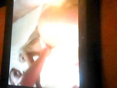 wanking my girl seeing porn on tv CUM from my COCK C