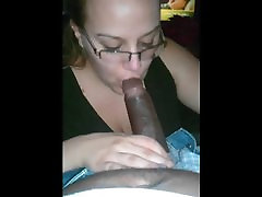 White girl sucking a big japanese game mom cock