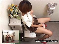 Indecent Women Toilet Onanism