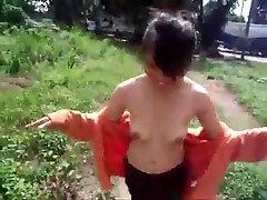 nude asian girl chasing