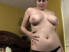 Very Horny Chubby sex whit biss Masturbating her Hairy Wet Pussy