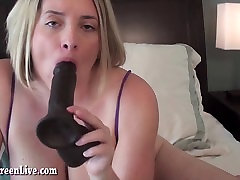 Busty Maggie Gets Off With Big Black Toy!