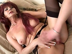 Granny old but still hot takes young cock