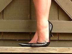 Vanessa Prada aukštakulnius modeliavimo shoeplay kulniukai
