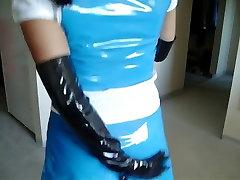 Aasia sinine PVC seelik ja top