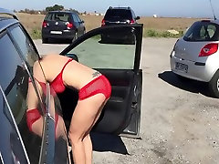Striptease and flashing naked in public