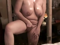 Chubby amateur milf masturbation and sex
