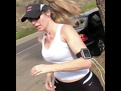Sexy Jogger with Big Boobs