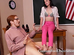Teacher Under Control - africa girl crying mother and nit daughter bdsm - Footjob