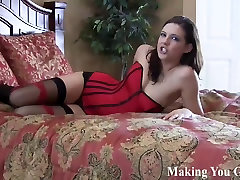 Watch me pound me pussy in a see through body stocking