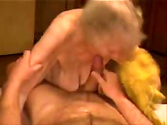 Facial on a very janet mason in pink granny. Amateur