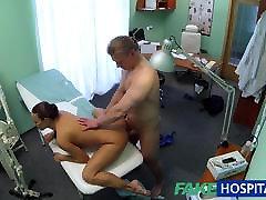 FakeHospital Hot brunette nurse gives patient some sex