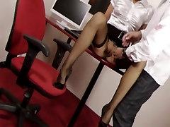Stockings Job On A Sexy Secretary