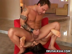 Ass licking Asianmild gets her nic messge fucked up