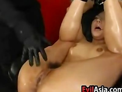 Asian Ultra-cutie Gets Her Pussy Penalized
