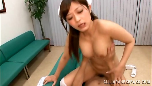 Super-hot nurse is a cool Chinese cougar ready for hardcore fuck-fest