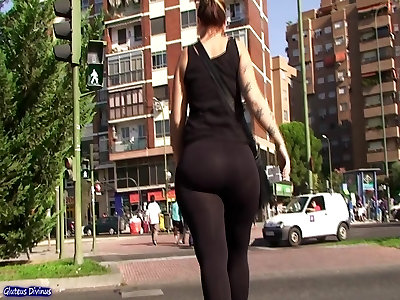 immense ample tight rump transparent tights from GLUTEUS DIVINUS