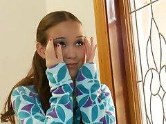 Beauty tiny teen Amai Lui get two huge cocks