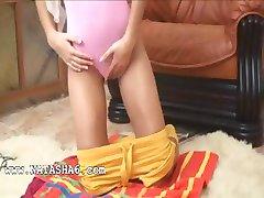 Live show of petite russian schoolgirl