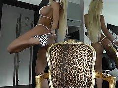 Hot Blonde Milf in Small Bikini Tease
