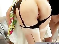 Mature british lady in stockings fucked by younger guy
