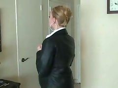 secretary in leather