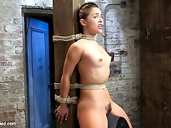 Hot tiny Kristina Rose gets placed in tough bondage and squeezed for cum. In scene one, she is...