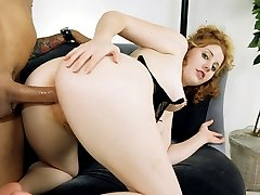 Cute little redhead girl shows off flaming pubes!