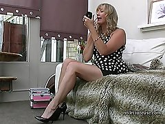 Gently stroking and massaging her lovely high heel, Mel kisses it and offers it to you for your...