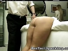 The nurse motions to leave, but she is going to be punished as well for showing up. He wants to...