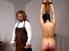 A severe group caning somewhere in the East - Girl 3