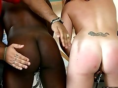Two sexy students get their butts spanked