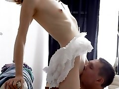 Lovely babe gets her tight ass humped