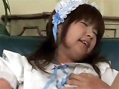 Japanese girl pleasing slit