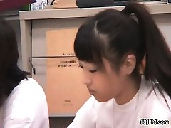 Cute asian girls get horny in the class part6