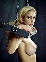 Cherie DeVille starts off in a box, a full sized cage, actually, and while it is uncomfortable it is at least safe. She won\'t be there long. Thanking him for kindness, asking him to cum, begging to serve, these are the signs of a polite and obedient slave. Normally that would be enough to avoid punishment, but not this time. The only reason PD needs to make her suffer is that he loves to see it.