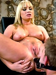 Gorgeous Flower Tucci stuffs his face with her big beautiful ass.