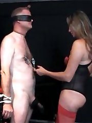 Strapon Jane has a sissy in her dungeon and she is going to fuck that ass of his nice and hard.